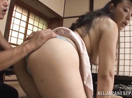 Lascivious Japanese mature hottie Koitoka enjoys steaming sex with a handsome young dude.