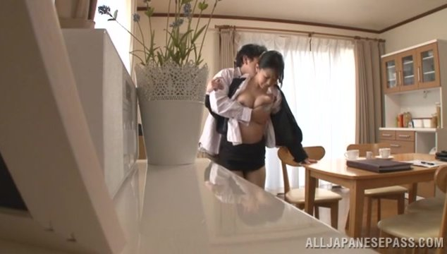 Cute mature Japanese beauty Erika Masuwaka loves the way her boyfriend uses her fist before she sucks his cock like a pro, she also goes crazy and rides cock before switching to position 69 and having her hole nailed deep and hard in a fine Asian porn sho