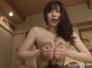 Then the kinky bombshell places her lover's dick between her jugs and enjoys a hot titfuck action in hot Asian porn scenes.