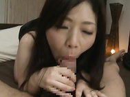 Japanese AV Model is a hot mature babe getting her tits squeezed and her hairy pussy fingered by her horny guy.