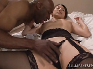 Juicy and dirty-minded hot mature Japanese AV model cannot survive a single day without dirty pleasure and in order to reach the very top of those wild joys she is ready perform cock sucking and enjoy doggy-style sex, as long as she gets cum on face.