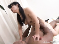 Brazen Japanese AV Model is a mature gal who is cheating her hubby with one nasty hardcore black stud eager to pound her pussy and fill it with jizz.