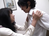 Japanese AV Model is a mature housewife in hardcore action.