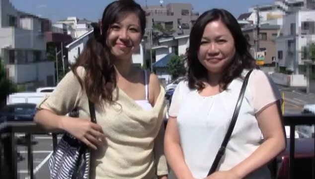 Japanese AV Model is a mature lady into hot sex with her friend.