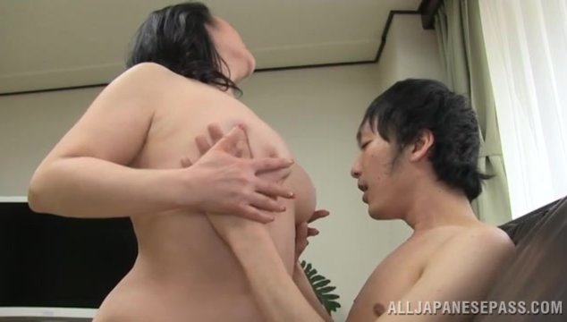 The guy adores her massive sappy body and he plays with her fat stunning knockers and makes tough pussy fingering, making the hot vixen pleased.