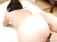 The guy stretches her precious holes and inserts his dick deep inside her horny soaking vagina, drilling her really hard, and creaming her pussy.