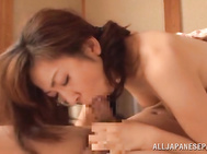 Nasty japanese mature Eiko Koike receives one nasty hardcore fuck from a younger male, drilling that warm pussy with great pleasure and making her scream like a true pornstar.