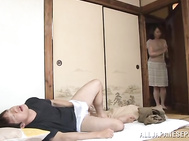 Mature Japanese seductress Yuuri Saejima fucks sexy guy.