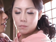 Hot mature Neko Ayami adores the pussy licking and cannot wait her partner to start ramming her shaved pussy, because it's been a while she has reached her long-awaited orgasms.