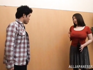 Shameless busty mature chick Natsuko Kayama enjoys deep insertion.