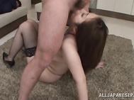 Naughty Japanese mature chick Aoi Aoyama enjoys a party with her friends.