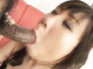 Ren Asano this pretty Asian doll is in sexy black lingerie.