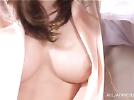 Sexy Japanese milf with awesome body Yumemi Honoka receives a steamy pussy fingering session from her dude making her to scream of pleasure as her body turns and twirls.