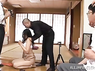 On her knees and ready to please, mature housewife Risa Murakami loves to do a good job when it comes to anything, not just giving head.