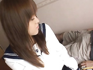 Clothed Yume Yumeno Wants To Suck Her Man Dry.