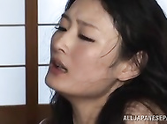 Lovely Asian milf Ai Yuzuki takes a bath together with her sex partner and she is doing her best to make this sweet procedure exciting.