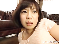 Hot Japanese MILF Wakaba Onoue has started masturbation in front of camera lens! She was playing with her filthy cunt in a non-stop manner until her partner has shown his erected dong! She grabs his boner and swallows his cock in a hot blowjob, ending in