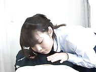 If youᄡre wondering what teen Megumi Shino is dreaming about, you only need to watch her touch herself in the middle of class to find out.