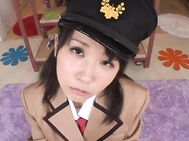 Uruha Mizuki is a nice Asian teen in a sexy costume enjoying an amateur play date with her guy.