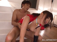 She stops and changes position so she can lick his asshole while giving him a hand job
