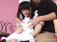 Busty maid, Nana Usami, fucking with her master - Japanese Cosplay.