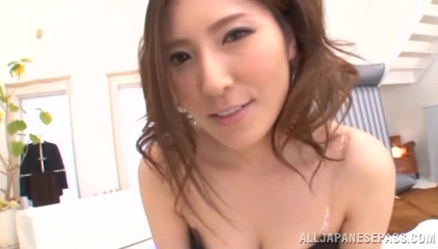 Japanese doll with superb nude form, Yuna Shiina, makes true magic with her warm lips when having such tasty dick to play with.