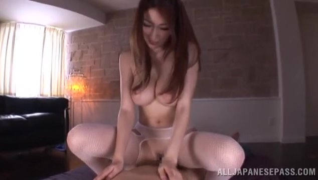 She does some hand work on her guy, stroking his cock with her small hands and then swallowing his cock in an outdoor blowjob