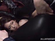 Alluring Japanese cosplay lover Claire Hasumi gets immense pleasure of being captured and screwed extremely hard by horny guys, who get really mad for the chance to play with her sexy body.