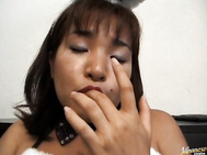 Doesn't Mika Hoshino make for a sexy Playboy bunny? I bet she fucks like a bunny too, but in this video, it's all about her getting herself off.