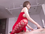 Yuria Satomi is a hot MILF, who has got a lot of dirty fantasies and desires inside her head.