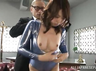 Lovely Japanese seductress Koto Shizuku works in the office where there is a very horny staff, thinking only about fucking. 2