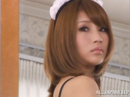 Maid Anna Anjo gets her outfit taken off to squirt cum - Japanese Cosplay.