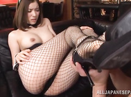 Arousing Japanese beauty Yuria Ashina likes teasing by undulating her sexy body dressed up in naughty costume and spreading her legs, inviting the guy to lick and fuck her superb pussy in one amazing hardcore action scene.