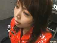 Raito Ayuhara is sexy in her red leather uniform.