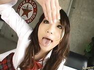 She is a nice teen who meets her guys after school in the room.
