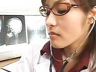 Nao Ayukawa Asian gal is a lewd female doctor with a nice body.
