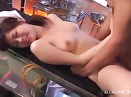 A hot sexy Asian nurse is sucking her patient´s hard dick deep in her hungry mouth in the OR.