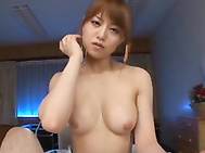 She is a wild nurse in sexy lingerie who enjoys sucking cock and licking her guyᄡs balls before he gets her busty tits pushed together and he fucks her cleavage with his cock and leaves her with a hot cumshot! Akiho Yoshizawa enjoys her breaktime fucking