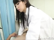 Piss-loving Asian Mistress doctor Ayaka Tomoda give the world´s best footjob.