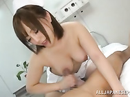She spreads legs apart to get her hairy muff fingered and being extremely excited, she starts very fast cock riding getting pussy creampie.