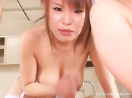 They love posing nude and sucking the dick in a row, wetting it well for their creamy Asian twats as well as their tight asses.