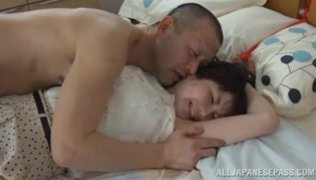 Sexy Japanese model Shiori Sasaki likes having this guy licking her hairy pussy before gently penetrating it with his cock, making the babe to moan loud and have intense pleasure during impressive hardcore action.