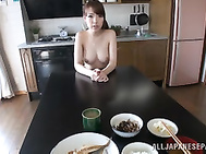 Peachy Japanese AV girl Iroha Sagara is a very careful housewife.