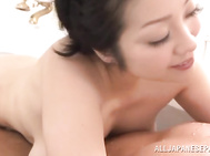Amateur Asian MILF Minako Komukai swallows cum while giving bath.