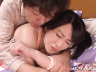 Maika Asai gets stimulated in hardcore action.