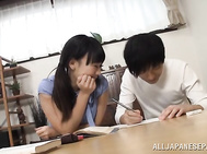 Naughty Japanese wife is penetrated deep.