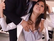 Ripped Pantyhose Office Sex With Horny Sara Fucked.