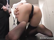 Sweet Japanese office lady Arisu Miyuki is a horny milf ready for everything in sex.