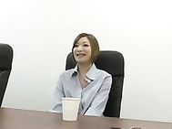 Karen Fujiki Makes A Man Cum In Her Mouth At The Office.