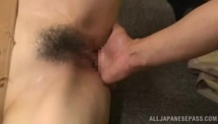 Sweetie gets teased into having her tight vag licked well before having her boss´s huge dick sliding up that warm mouth in a superb cock sucking scene.